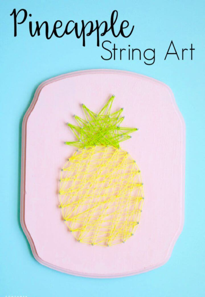 Make A DIY Pineapple String Art Tutorial