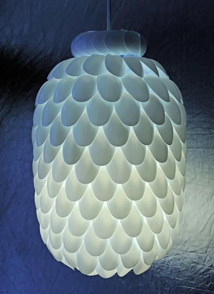 Make A DIY Plastic Spoon Lamp