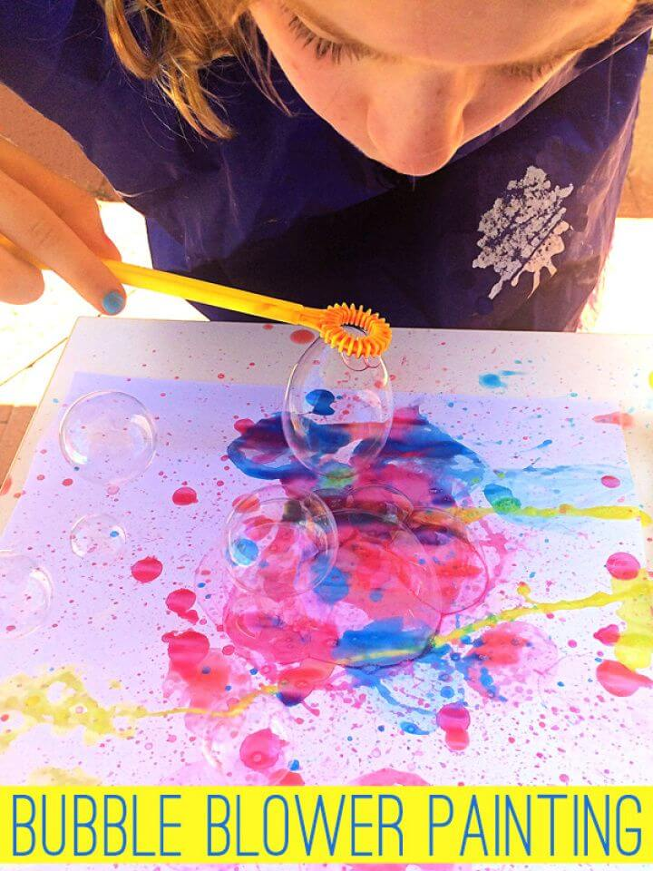 Make Your Own DIY Bubble Painting with Bubble Blowers