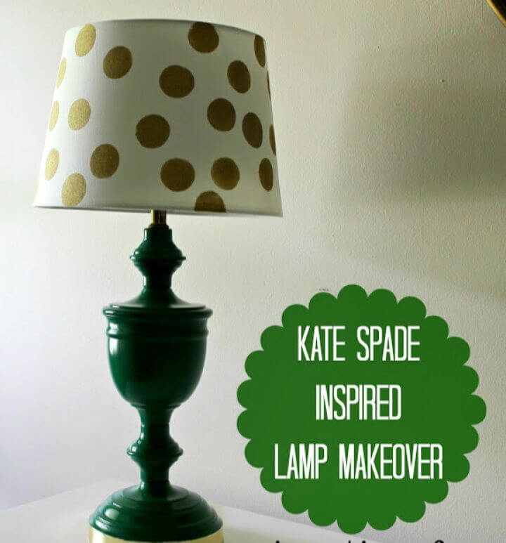 Simple And Cheap DIY Kate Spade Inspired Lamp Makeover