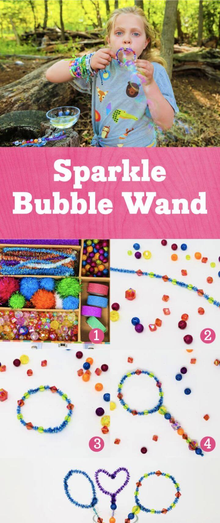 Simple DIY Sparkle Bubble Wands