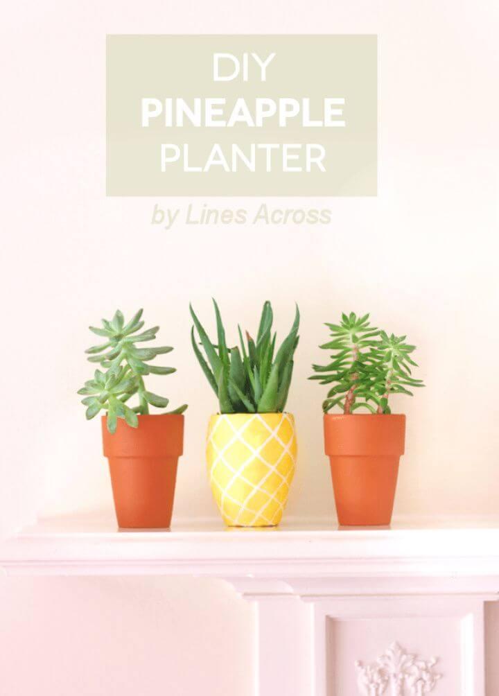 Simple DIY Succulent Pineapple Planter