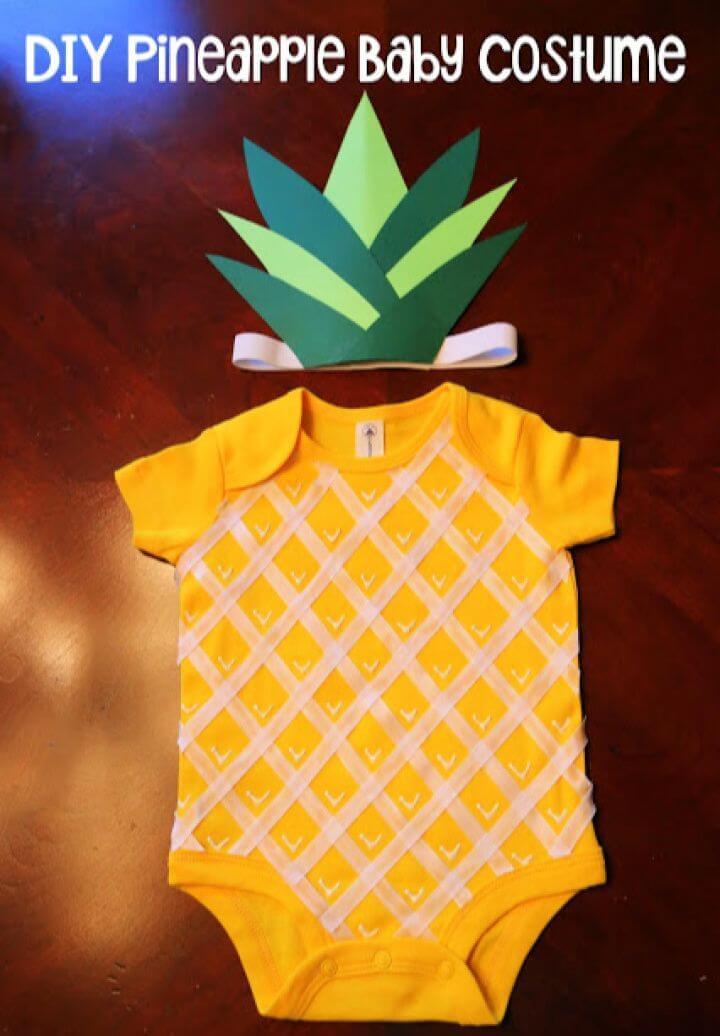 Simple DIY Sweet Pineapple Baby Halloween Costume