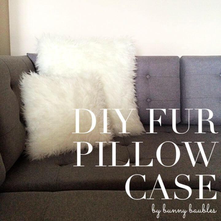 Beautiful DIY Fur Pillow Cases