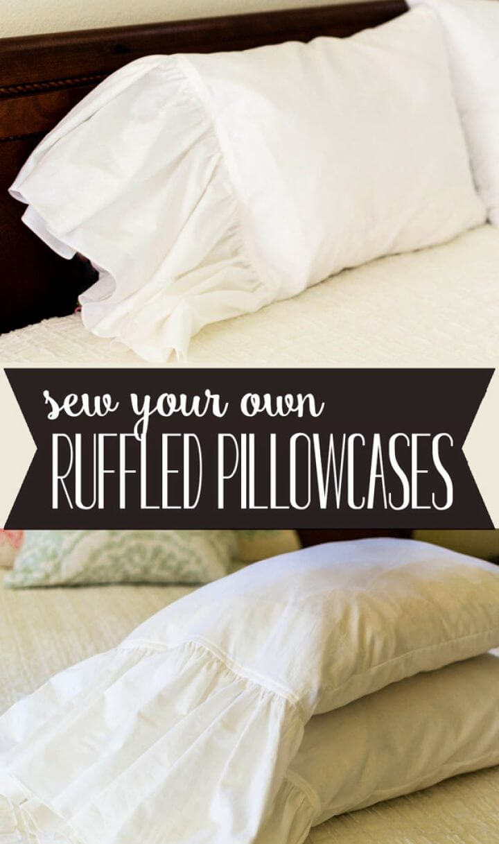 Beautiful DIY Ruffled Pillowcases