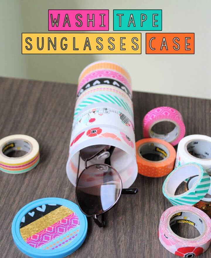 Beautiful DIY Washi Tape Sunglasses Case