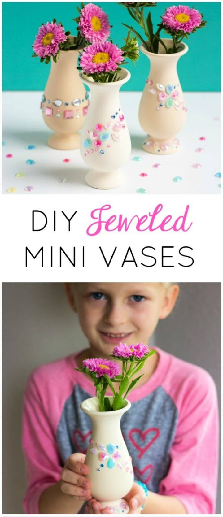 Build A DIY Jewel Covered Mini Vases