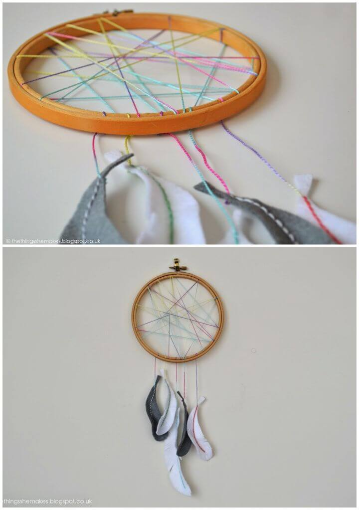 Build Your Own DIY Embroidery Hoop Dreamcatcher