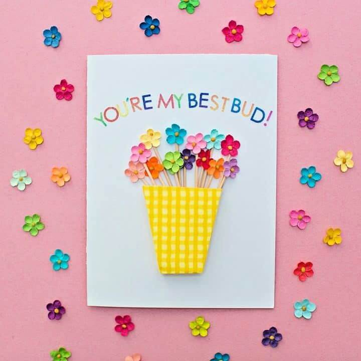 Build Your Own DIY Flower Vase Card