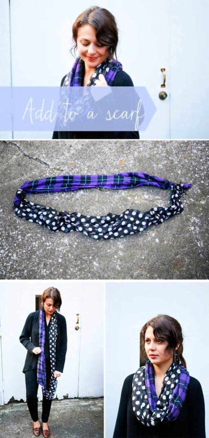 Combine Scarves To Make Your Own DIY Infinity Scarf