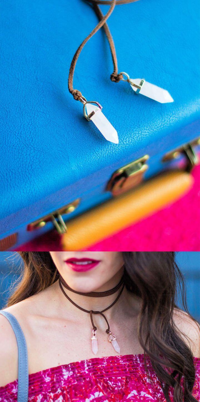 Create A DIY Suede Wrap Choker Necklace