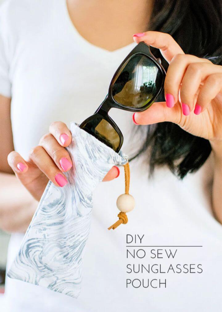 Create DIY No Sew Sunglasses Pouch