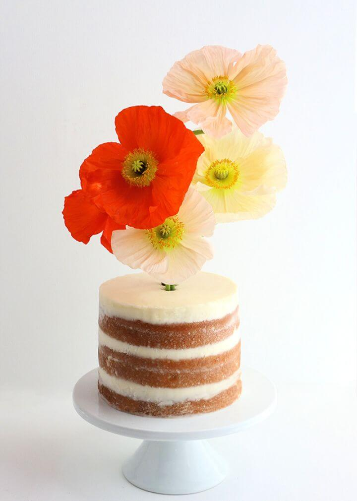 Create Your Own DIY Flower Vase Cake