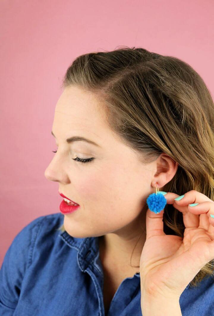 Create Your Own DIY Pom Pom Earrings