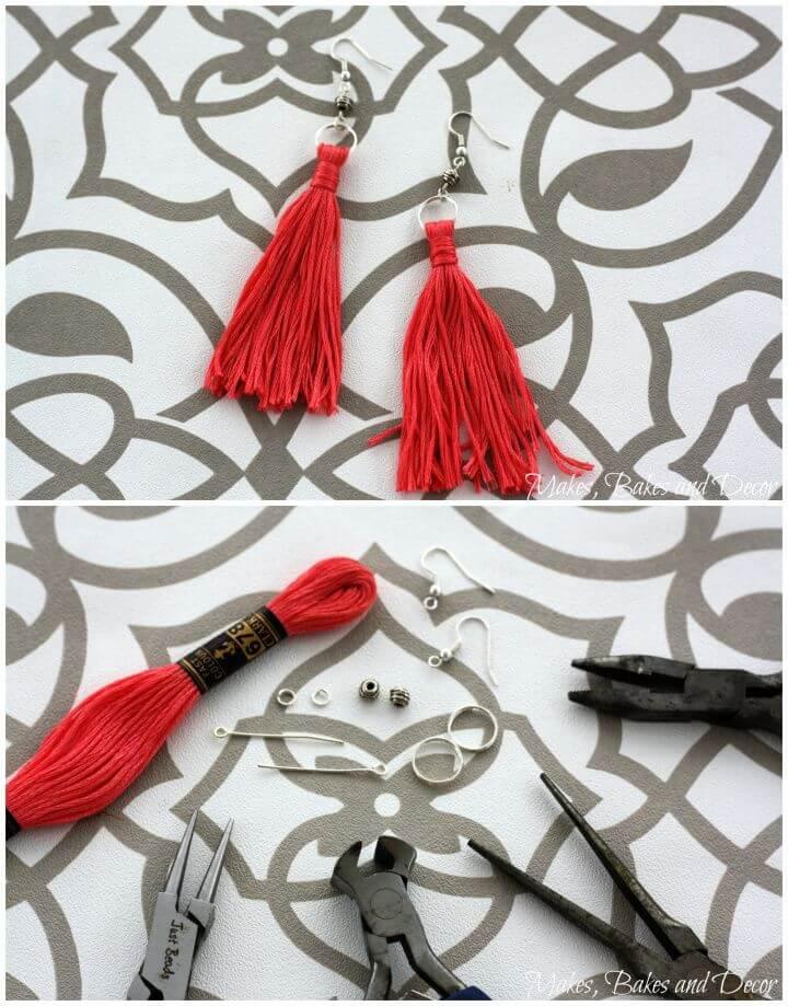 Create Your Own DIY Tassel Earrings