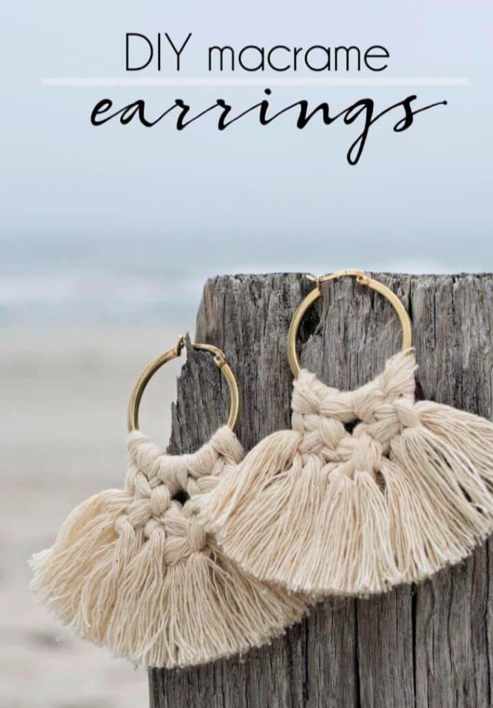 Create Your Own Macrame Earrings