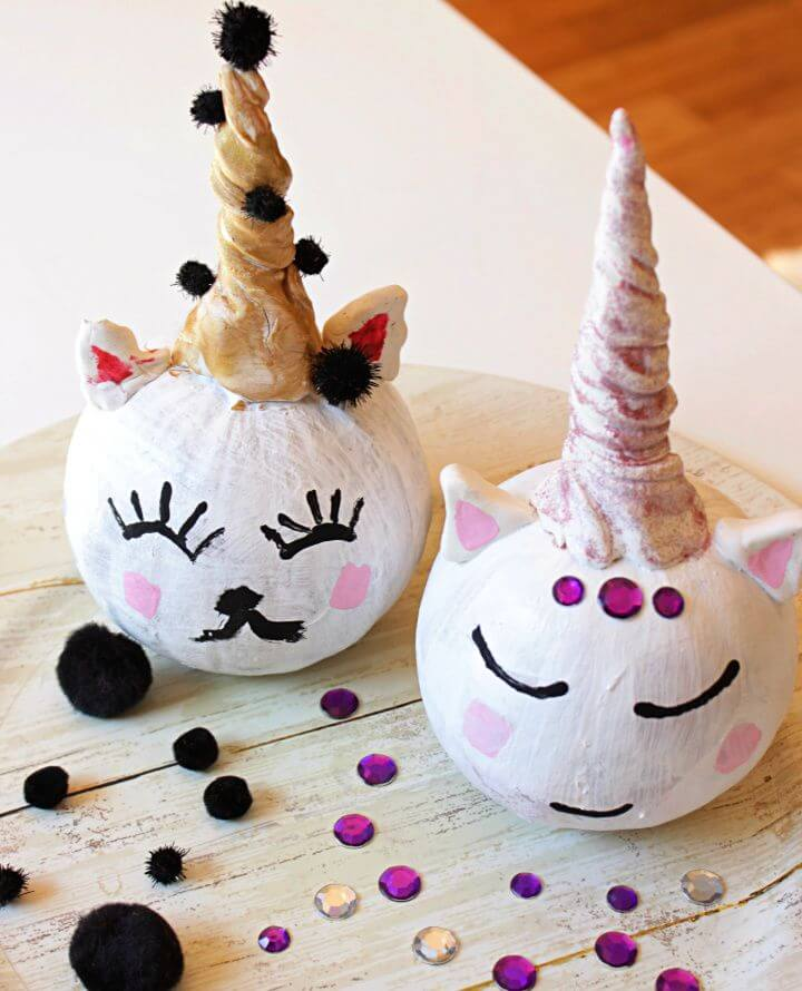 Creative Unicorn Monster And Cat Pumpkins For Kids