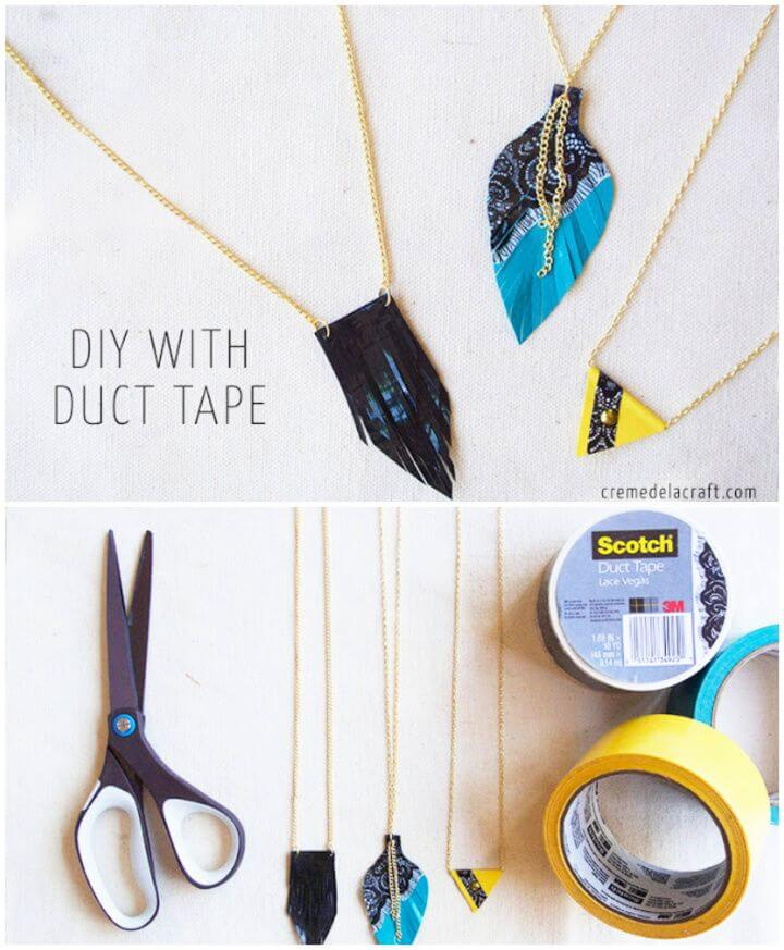 Cute DIY 3 Duct Tape Necklaces