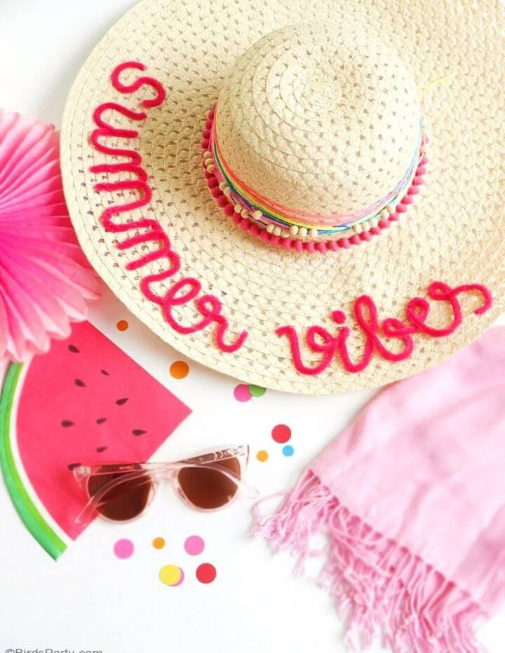 Cute DIY Custom Summer Sun Hats