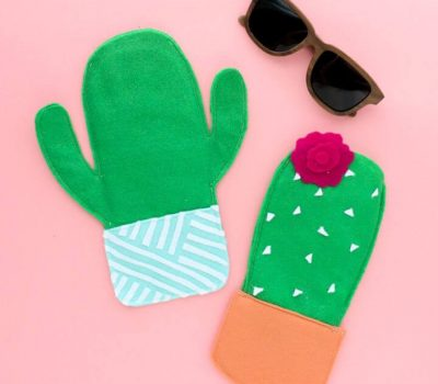 Cute DIY Felt Cactus Sunglasses Case