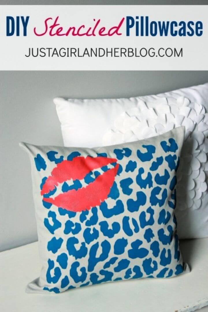 Cute DIY Stenciled Pillowcase Tutorial