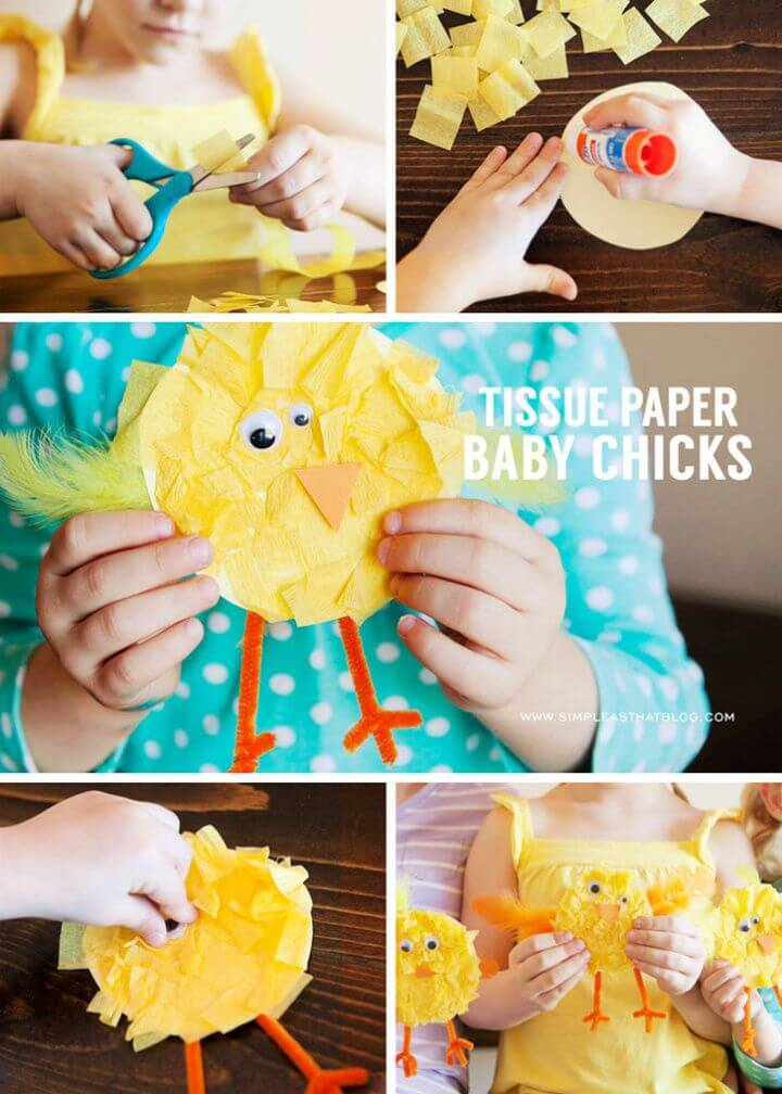 Cute DIY Tissue Paper Baby Chicks