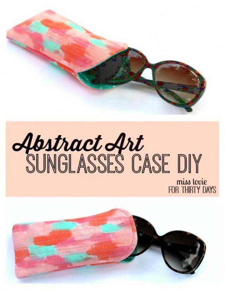 DIY Abstract Art Sunglasses Case