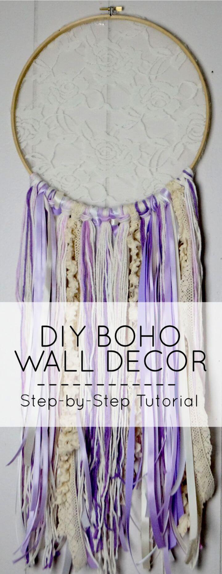 DIY Boho Dreamcatcher Wall Decor for Your Home