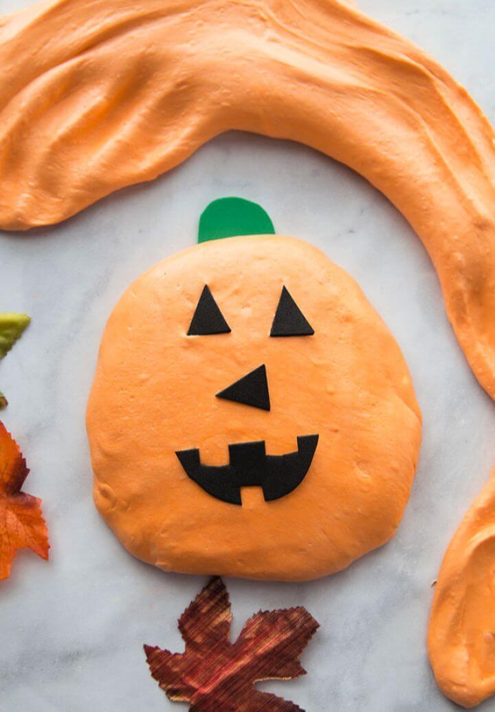 DIY Fluffy Pumpkin Slime