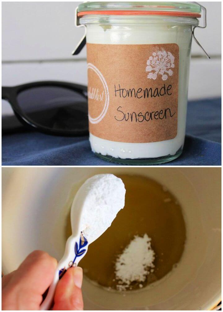 DIY Homemade Coconut Sunscreen With Shea Butter