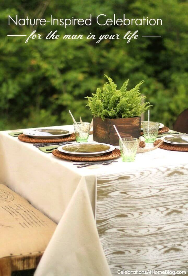 DIY Nature Inspired Tabletop For The Man In Your Life
