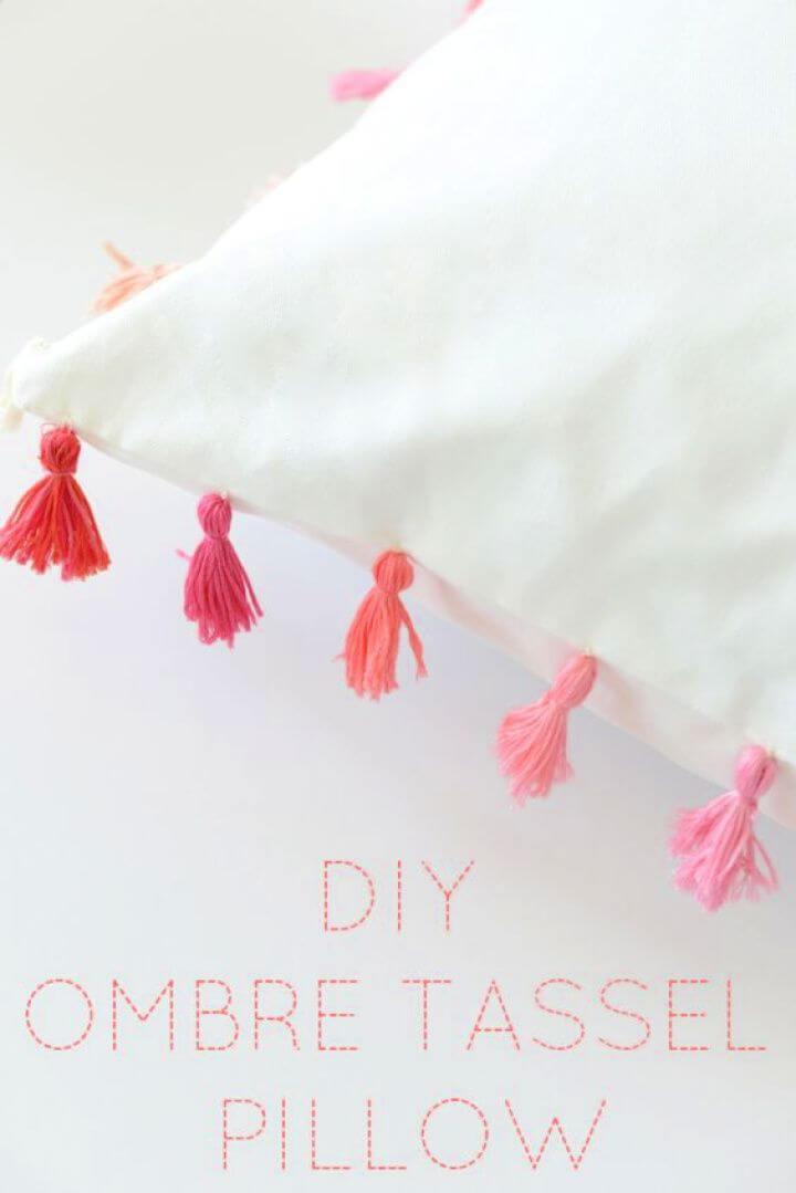 DIY Ombre Tassel Pillow