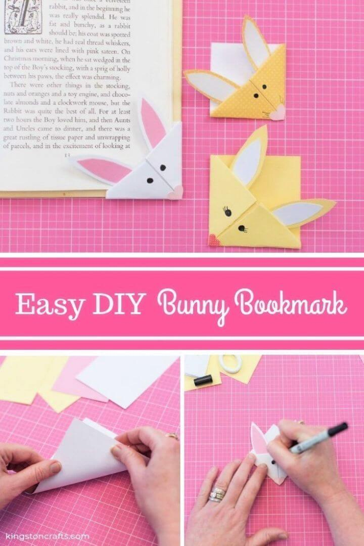 Easy DIY Bunny Bookmark