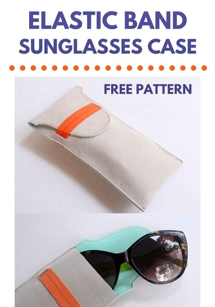 Easy DIY Elastic Band Sunglasses Case