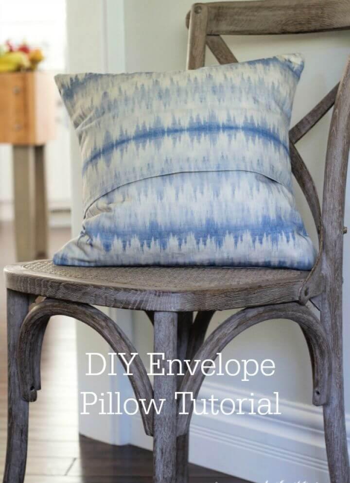 Easy DIY Envelope Pillow Cover Tutorial
