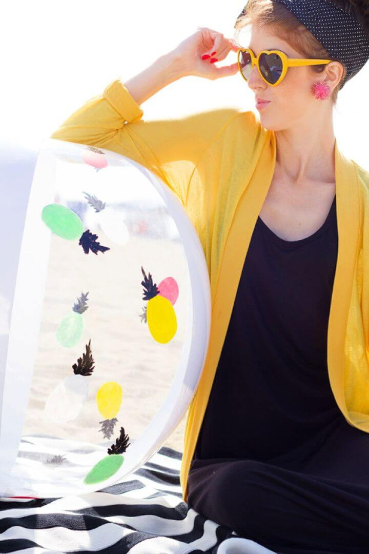 Easy DIY Painted Beach Ball Makeover