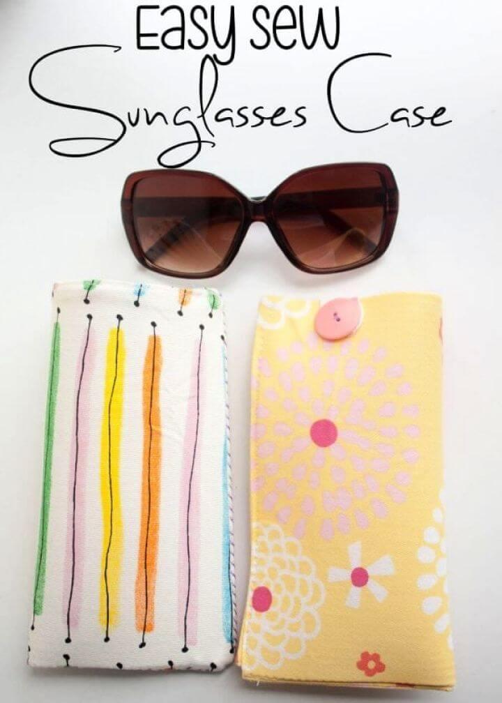 Easy DIY Sew Sun Glasses Case