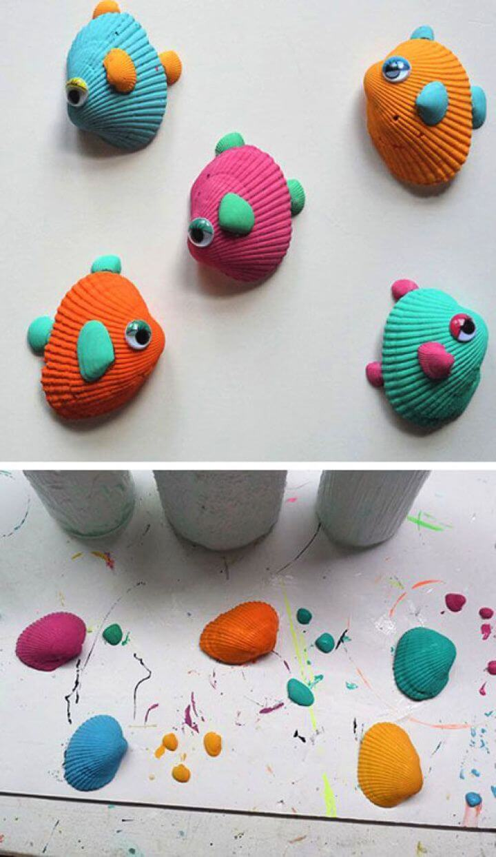 Easy DIY Tropical Seashell Fish Craft