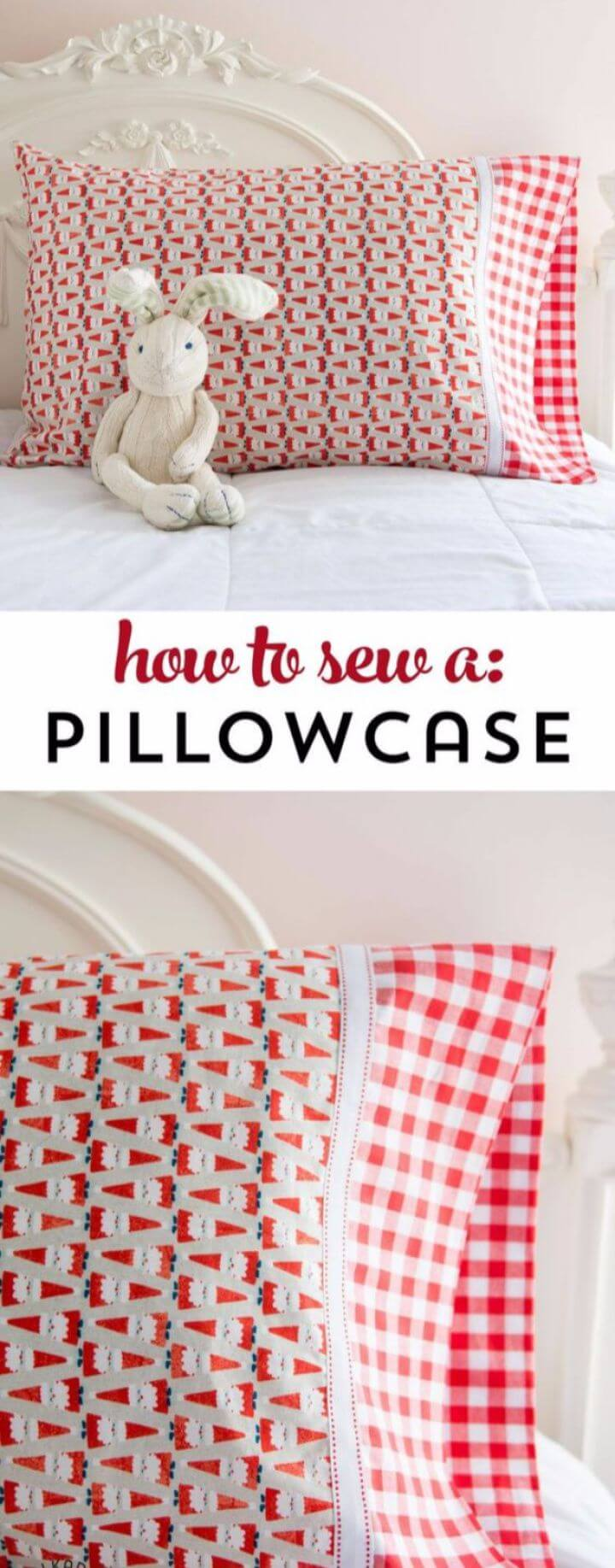 Easy Way To DIY Sew A Pillowcase