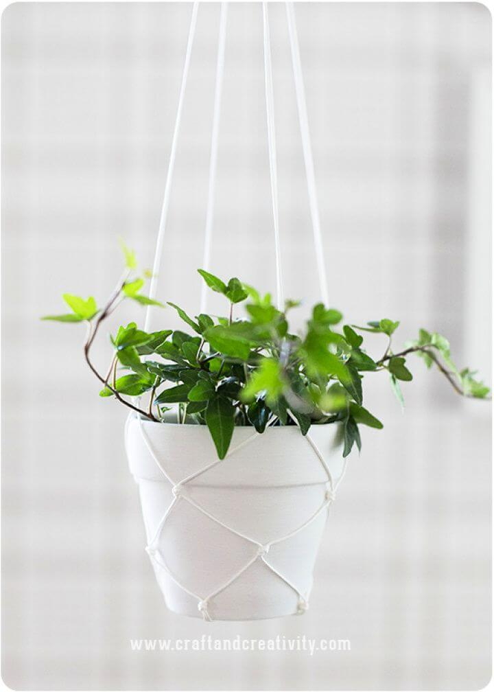 How To Create A DIY Macramé Hanging Planters