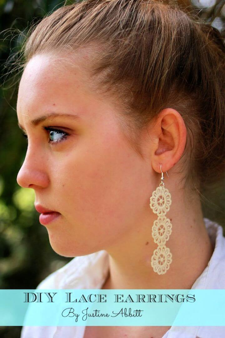 How To Create DIY Lace Earrings