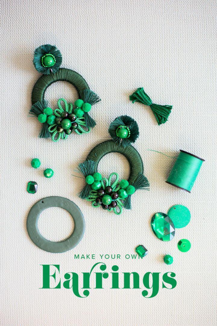 How To Create DIY Mixed Media Earrings