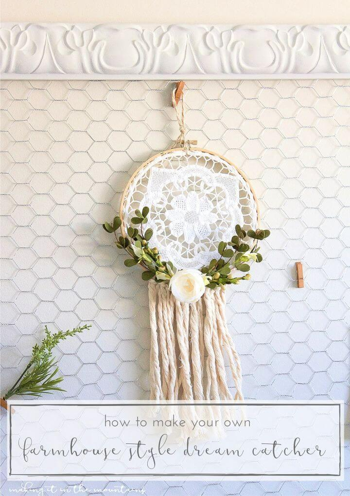 How To Create DIY Rustic Farmhouse Style Dreamcatcher