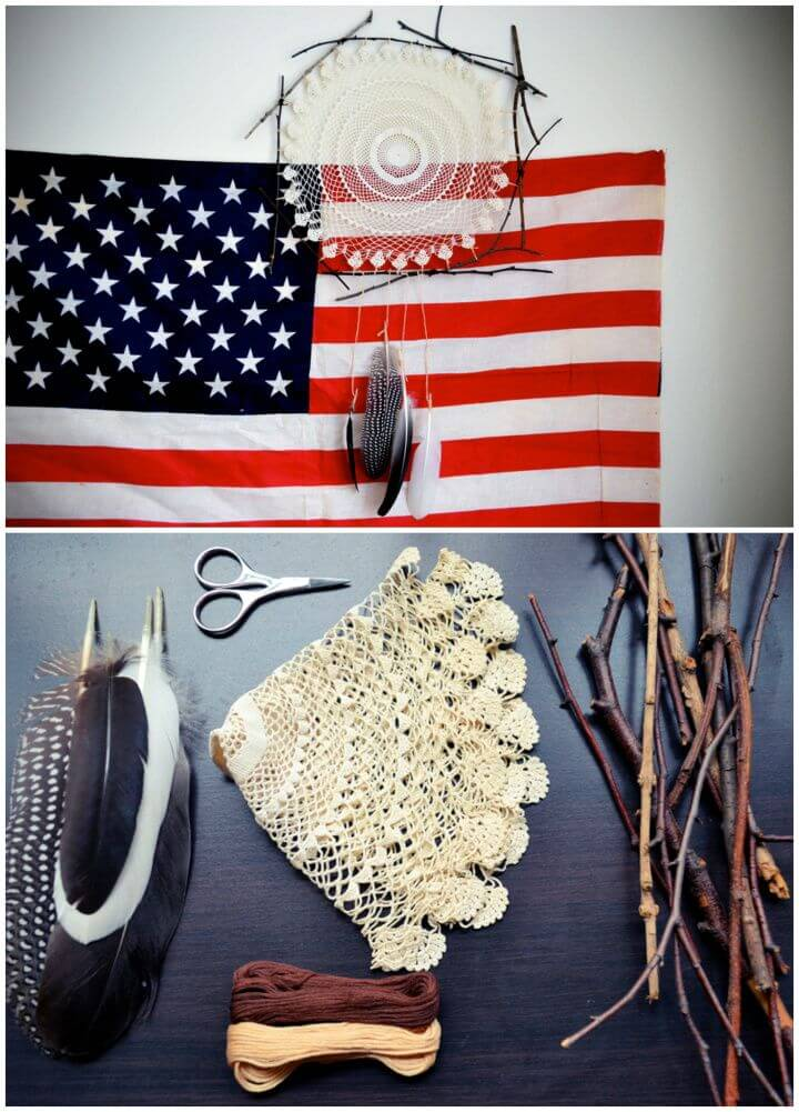 How To DIY Doily Dreamcatcher