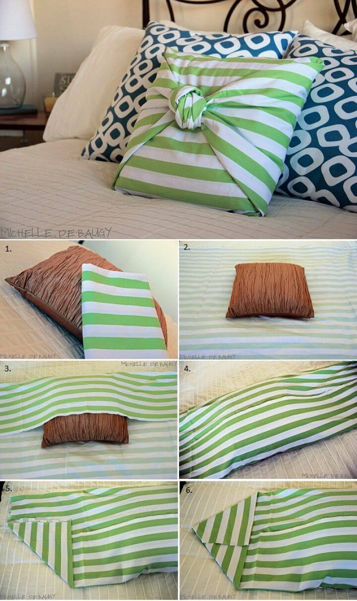 How To DIY No Sew Pillow Case