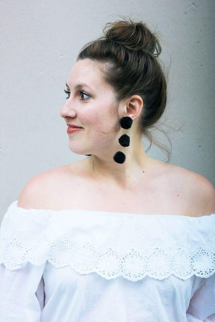 How To DIY Pom Pom Earrings