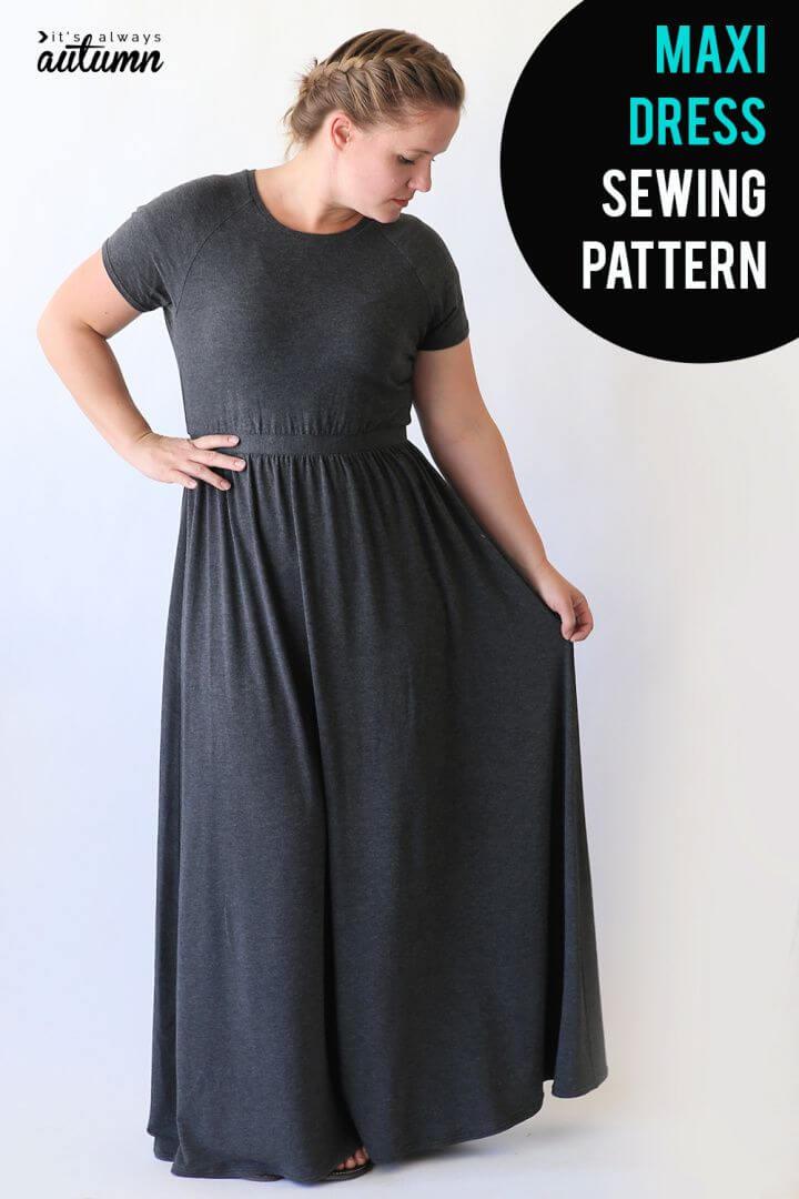 How To DIY Raglan Tee Maxi Dress