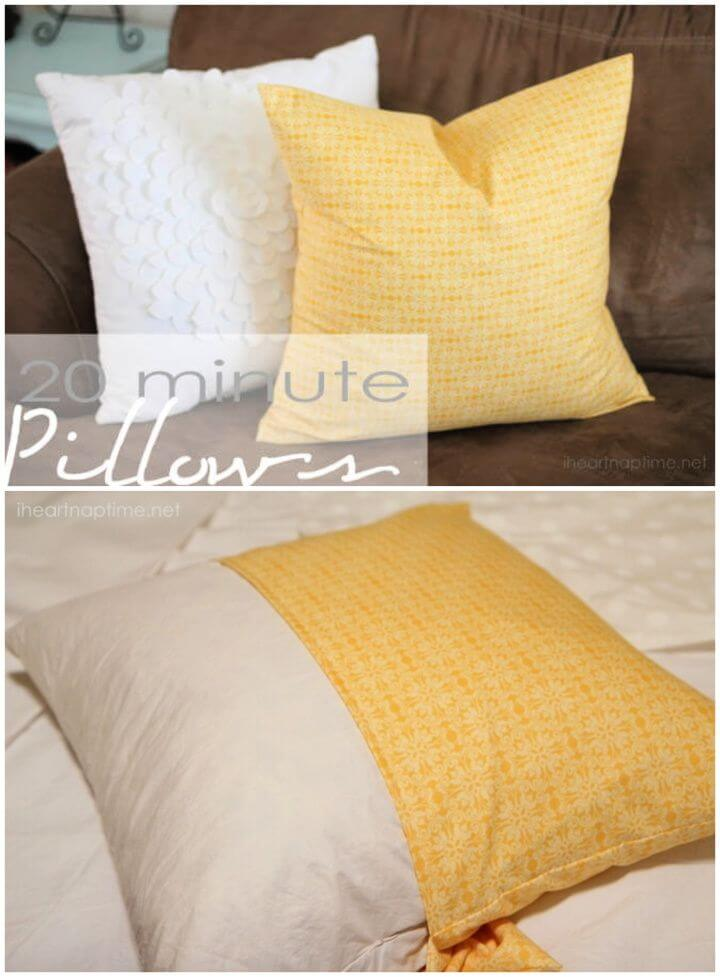 How To DIY Sew A Pillowcase