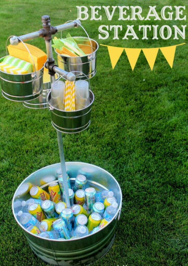 How To Make A DIY Beverage Station