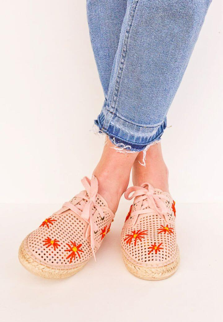 How To Make A DIY Embroidered Shoes